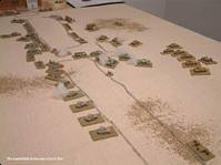 The battlefield at the end of turn five