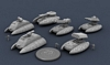 Futuristic armoured fighting vehicles from MicroWorld Games (6mm scale)